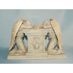 Engelen met grafsteen